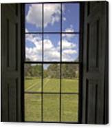 Historic Drayton Hall Window In Charleston South Carolina Canvas Print