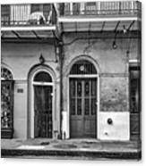 Historic Entrances Bw Canvas Print