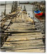 Historic Fishing Pier In Portugal I Canvas Print