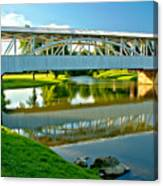 Historic Halls Mill Bridge Reflections Canvas Print