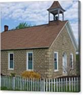 Historic Hinerville Schoolhouse  Canvas Print
