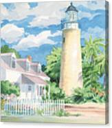 Historic Key West Lighthouse Canvas Print