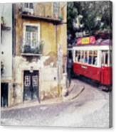 Historic Lisbon Tram Canvas Print