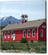 Historic Maysville School In Colorado Canvas Print