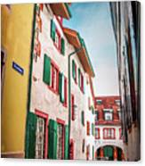 Historic Old Town Basel Switzerland  Canvas Print