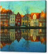 Historic Old Town Lubeck Canvas Print