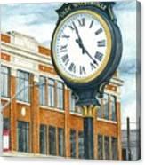 Historic Olde Walkerville Clock Canvas Print