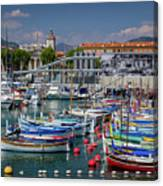 Historic Port Of Nice, France Canvas Print