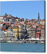 Historic Porto Riverfront Canvas Print