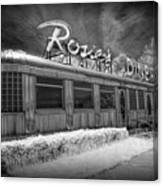Historic Rosie's Diner In Black And White Infrared Canvas Print