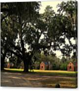 Historic Slave Houses At Boone Hall Plantation In Sc Canvas Print