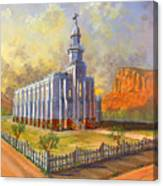 Historic St. George Temple Canvas Print