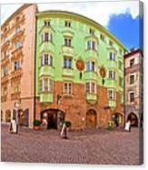 Historic Street Of Innsbruck Panoramic View Canvas Print