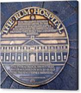 Historic Sydney Hospital - Plaque On Sidewalk Canvas Print