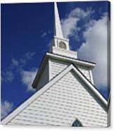 Historic White Church Canvas Print
