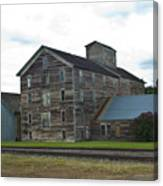 Historical Barron Wheat Flour Mill In Oakesdale Wa Canvas Print