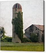 Historical Farm Scene Canvas Print