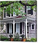Historical Home In Wilmington Canvas Print
