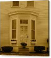 Historical Housing Fort Leavenworth Canvas Print