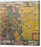 Historical Map Of Early Colorado Canvas Print