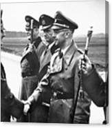 Hitler Shaking Hands With Heinrich Himmler Unknown Date Or Location Canvas Print