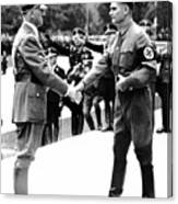 Hitler Shaking Hands With Rudolf Hess Circa 1935 Canvas Print
