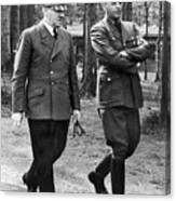 Hitler Strolling With Albert Speer Unknown Date Or Location Canvas Print