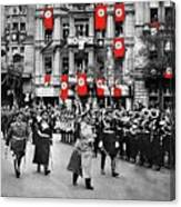 Hitler With Goering And Himmler Marching In Munich Germany C.1934-2016  Canvas Print