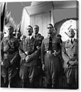 Hitler With Nazi Party Bigwigs Julius Streicher On Far Right C. 1935 Color Added 2016 Canvas Print