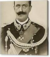 H.m. Victor Emmanuel IIi Of Italy Canvas Print