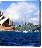 Hmas Adelaide Helps Sydney Celebrate Canvas Print