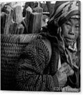 H'mong Woman Canvas Print