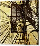 Hms Bounty - Up The Mast - 2 Canvas Print