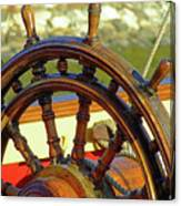 Hms Bounty Wheel Canvas Print