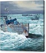 HMS Compass Rose Escorting North Atlantic Convoy Canvas Print
