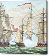 Hms Shannon Vs The American Chesapeake Canvas Print