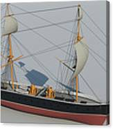 Hms Warrior 1860 - Bow To Stern Technical Canvas Print