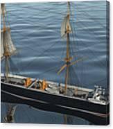 Hms Warrior 1860 - Stern To Bow Ocean Canvas Print