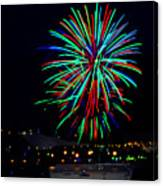 Hobart New Years Eve Fireworks Canvas Print