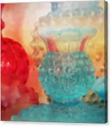 Hobnail Glassware Canvas Print