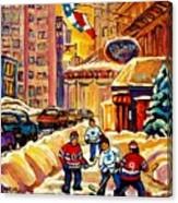 Hockey Fever Hits Montreal Bigtime Canvas Print