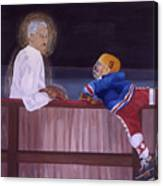 Hockey God Canvas Print