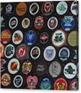 Hockey Pucks Canvas Print