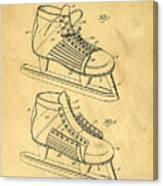 Hockey Skates Patent Art Blueprint Drawing Canvas Print