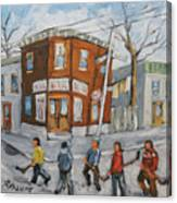 Hockey Town Montreal Created By Prankearts Canvas Print