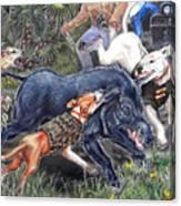 Hog Hammock Earrings Canvas Print