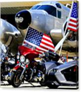 Hog Heaven At The Hollister Air Show Canvas Print