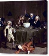 Hogarth: Midnight, 1731 Canvas Print