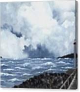 Hogsteinen Lighthouse Canvas Print