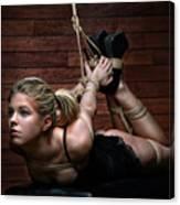 Hogtie - Tied Up Girl - Fine Art Of Bondage Canvas Print